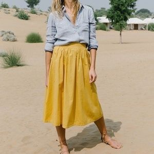 Madewell Side Button Midi Skirt